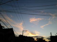 Lindo final de tarde na cidade