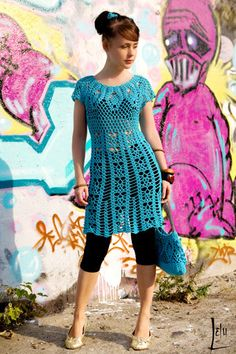 PDF pattern only elegant summer crochet dress by CottonMystery