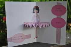 Ballerina Birthday Cards With Templates - by Hey Mickey - == - Girls will love it! A simple and nice idea for birthday cards for girls. Very easy to make and a great pop up effect! By Hey Mickey website.
