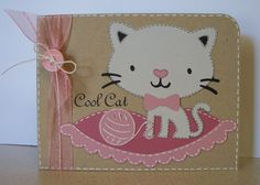 Create a Critter. Scrappin' Navy Wife: Cool Cat Card