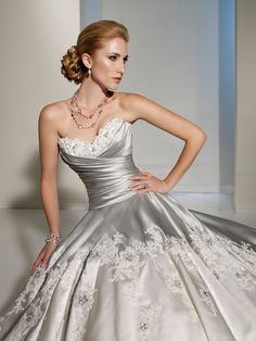 Designer Wedding Dresses by Sophia Tolli  |  Wedding Dresses  |  Style #Y11203 - Adelita.    The drapery and flowiness is beautiful as well!!!