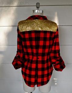 WobiSobi: Glitter Plaid Lumberjack.
