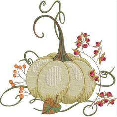 Season For Pumpkins - Kreations by Kara Kara, Machine Embroidery, Berries, Saddle Bags, Pumpkins, Creative, Floral, Embroidery Designs, Thanksgiving