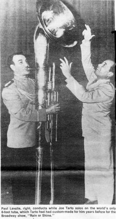 Joe Tarto played all kinds of bass instruments. Here is one of the most unusual ones, an tuba! Sound Of Music, Kinds Of Music, Tuba Pictures, Brass Musical Instruments, Sousaphone, Vocal Coach, Online Lessons, Music Lovers, Musicals