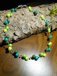 Neu unikat moos grün Polariskette bunt Halskette Collier Polaris perlen kette in Uhren & Schmuck, Modeschmuck, Halsketten & Anhänger | eBay