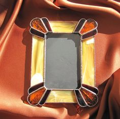 Your place to buy and sell all things handmade Stained Glass Frames, Stained Glass Night Lights, Stained Glass Projects, Stained Glass Patterns, Leaded Glass, Mosaic Glass, Fused Glass, Glass Art, Mirrored Picture Frames