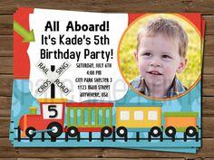 Printable Train Invite Train Birthday Invite by SparetimePrints, $11.00