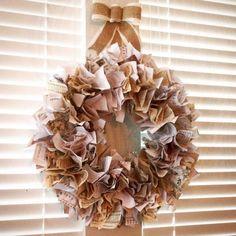 vintage printables Christmas wreath DIY