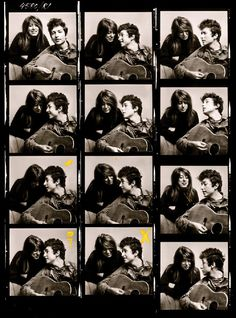 Shooting Film: Contact Sheets of Iconic Photos of Bob Dylan by Don Hunstein in 1963