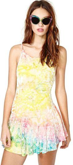 UNIF Rink Velvet Dress
