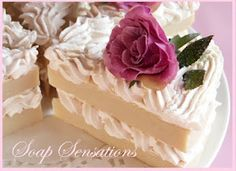 The Happy Housewife and her soap obsession: Beautiful Shabby Chic Cake Slice Soaps....