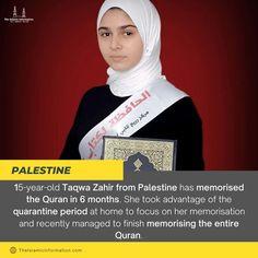 Taqwa Zahir From Palestine Has Memorized The Quran During Quarantine