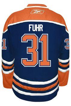 219884775 ... Edmonton Oilers VINTAGE Grant FUHR 31 Official Home Reebok Premier  Replica NHL Hockey Jersey ...
