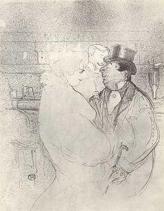 Анри де Тулуз-Лотрек. Ида Хит в баре 1895 32,9 х 25,5 см Литография.