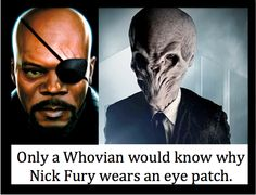Fury's eye patch revealed.