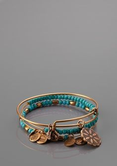 Turquoise and gold beaded...pretty!!