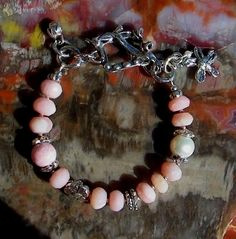 Peruvian Opal Handcrafted Artisan Sterling Silver Bracelet. $185.00, via Etsy.