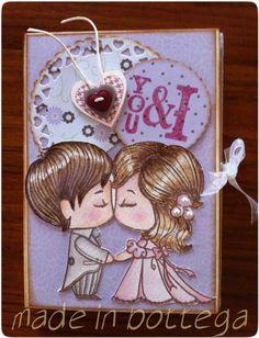 wedding card - bigliettino di auguri by madeinbottega on Etsy