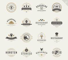 16 Restaurant Logotypes and Badges by Vasya Kobelev on Creative Market