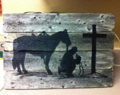 Items similar to Set of 6 Praying Cowboy Church Cast Iron Pin Nail Western Decor Upholstery Wood Working Southwest on Etsy Western Theme, Western Decor, Western Art, Western Signs, Cowboy Western, Pallet Painting, Pallet Art, Painting On Wood, Pallet Letters