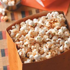 Tex-Mex Popcorn Recipe -Spicy Southwest seasoning makes this snackin' good popcorn ideal for any fiesta. —Katie Rose, Pewaukee, Wisconsin