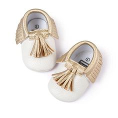 Baby Moccasins Shoes Soft PU Leather Tassel Girls Bow Moccasin First Walkers