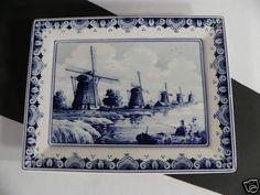 Delft Westraven Handwerk Holland Wall Hanging Plaque Windmill Scene   eBay