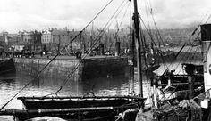 Tour Scotland Photographs: Old Photograph Fishing Boats Harbour Peterhead Scotland