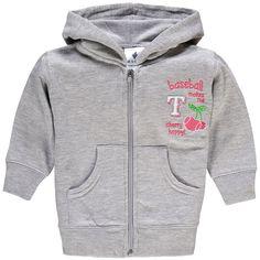 Texas Rangers Soft As A Grape Girls Infant Cherry Happy Full-Zip Hoodie - Gray - $18.04