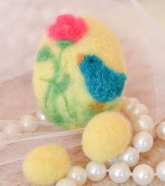 Needle Felted OOAK, Handmade Easter Egg for a Perfect Easter Collectible on Etsy, $18.00