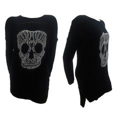 NEW WOMENS KNITTED LACE SKULL JUMPER DRESS