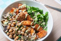geroosterde zoete aardappel bowl