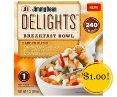 Target: Jimmy Dean Delights Breakfast Bowls Only $1.00 - http://www.couponsforyourfamily.com/target-jimmy-dean-delights-breakfast-bowls-only-1-00/