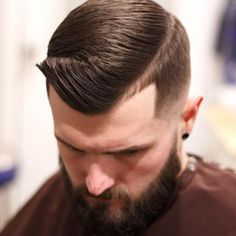 The Gentleman Haircut Quiff + Comb Over + High Fade Crew Cuts, Side Part Hairstyles, Cut Hairstyles, Men's Haircuts, Modern Haircuts, Wedding Hairstyles, High Skin Fade Haircut, Gentleman Stil, Crew Cut Haircut