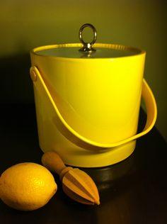 Mid-century modern mellow yellow ice bucket!