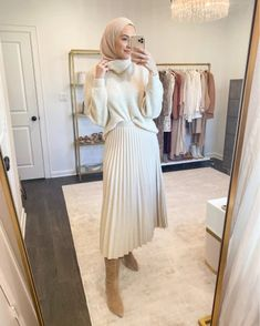 Modest Winter Outfits, Modest Outfits Muslim, Classy Winter Outfits, Winter Fashion Outfits, Muslim Fashion, Modest Fashion, Women's Fashion, Hijab Fashion Inspiration, Mode Hijab
