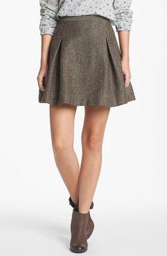 Hinge® Metallic Tweed Skater Skirt | Nordstrom