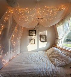 love the lights in bedroom