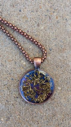 Orgonite Brass Necklace by FountainOfSpirit on Etsy
