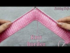 अब सफाई से बॉर्डर बनाने का आसान तरीका, Easiest Technique to Knit Rib Border Neatly and Perfectly - - Crochet Hooks, Crochet Baby, Knit Crochet, Crochet Patterns For Beginners, Knitting For Beginners, Knitting Designs, Knitting Patterns, Gents Sweater, Knitted Bags