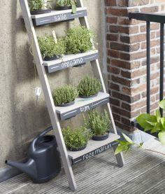 Idée pour un petit jardin vertical accueillant les plantes aromatiques (ce ne doit pas être trop dur à réaliser en DIY) - small vertical garden Verticale kruidentuin | KARWEI