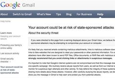 Google Warns Thousands Of Users About Potential State-Sponsored Cyber Attacks