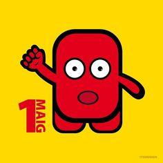 #1deMaig #DiadelTreballador / #1May #InternationalWorkersDay / #illustration #vector #artist #draw #drawing #designer #design #graphicdesign #graphics #disseny #dissenygràfic #dessin #cute #sticker #doodle #funny #monster #sketch #itsdesign