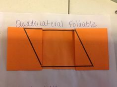 cool foldable that starts as a quadrilateral and turns into a square, rectangle, parallelogram, and trapezoid!
