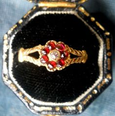 Antique Victorian Garnet and Rose Cut by VictorianSpiritRings, $185.00