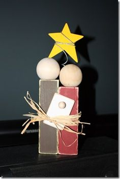 nativity idea.. I made this last year. I found it last year on a blog somewhere..and I added the star!