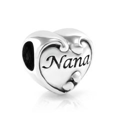 925 Sterling Silver I Love You Nana Heart Bead Charm Fits Pandora Bracelet -- Read more reviews of the product by visiting the link on the image. (This is an affiliate link and I receive a commission for the sales)