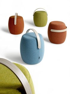 Carry On is Mattias Stenberg's first design for Offecct. Carry On is a portable seating furniture that can stand alone and be a complement to the rest of the interior. Best Speakers, Cool Bluetooth Speakers, Kids Furniture, Furniture Design, Portable Stool, Swedish Design, Minimalist Design, Carry On, Design Trends