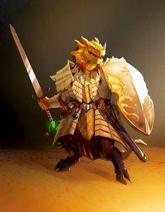 m Dragonborn Gold Paladin Plate Armor Shield Greatsword undercity underdark Dnd Dragons, Dungeons And Dragons Art, Dungeons And Dragons Characters, Dnd Characters, Fantasy Characters, Fantasy Figures, Fantasy Dragon, Fantasy Armor, Dragon Art