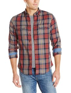 GANT Men's Windam Twill Check Shirt, Grey Melange, Small